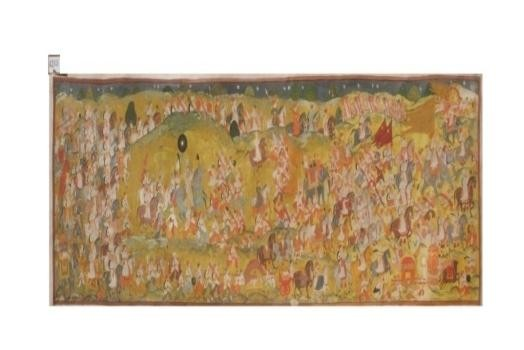 Copy of Bundi Painting(Fresco) Kripal Singh Shekhawat Bundi Procession Scene Tempera on Paper (Painting) 518x147 cms